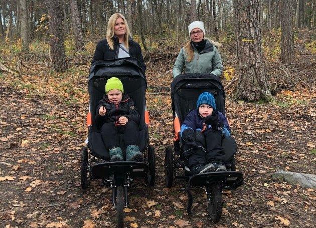 FØLER SEG SPARKET: Gitte Derrica og Elin Barland