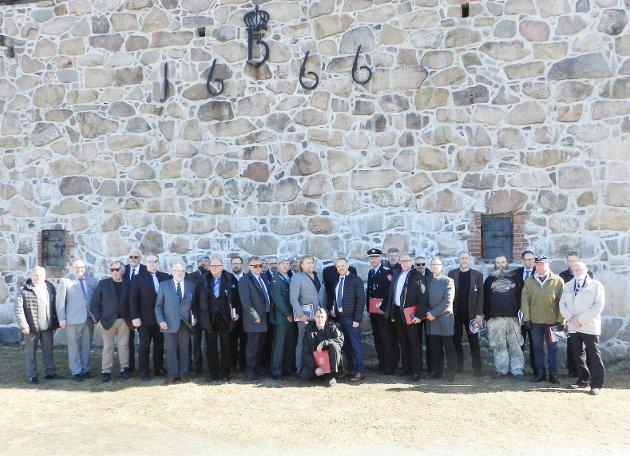 Fra utdelingen av Forsvarets medalje for internasjonale operasjoner. Her er soldater fra halden og Sarpsborg samlet.