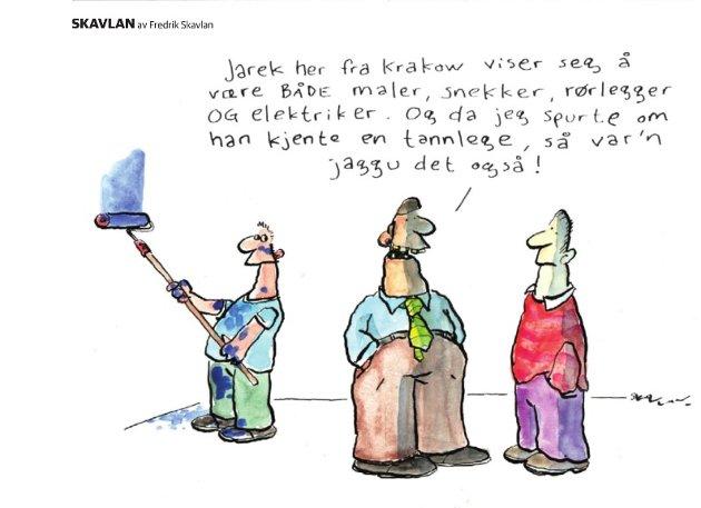 Vitsetegningen i Sandefjords Blads papirutgave forrige lørdag har skapt reaksjoner.