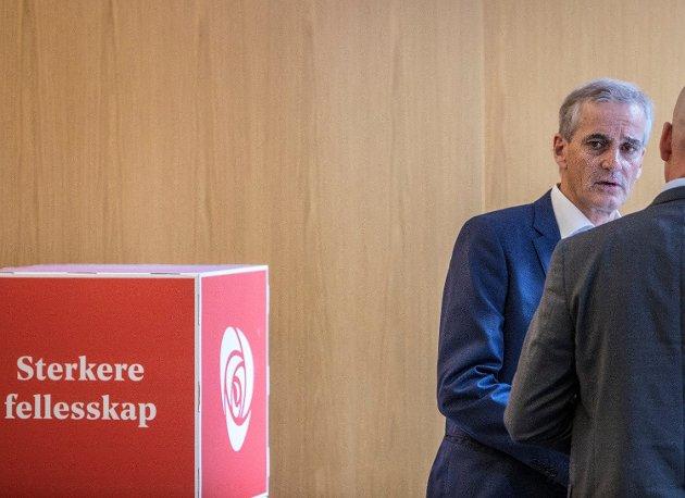 MOT PRIVATE LØSNINGER: Arbeiderpartiet og partileder Jonas Gahr Støre går til valg på et program som skal bekjempe private tilbydere av barnehager og andre offentlige velferdstjenester. Foto: Ole Berg-Rusten (NTB scanpix)