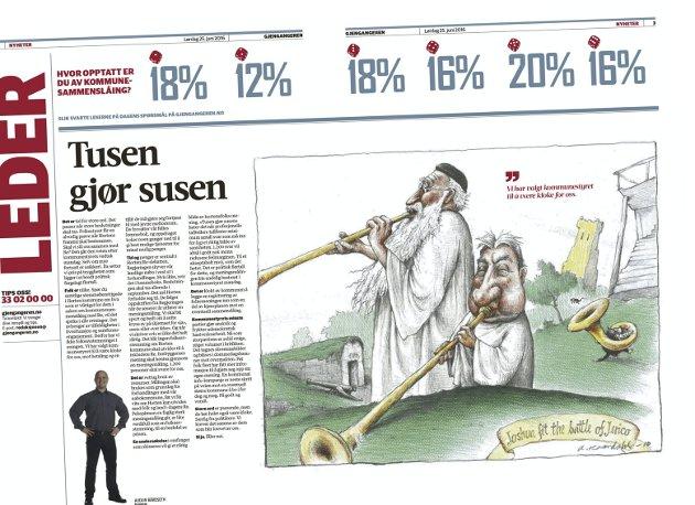 FAKSIMILE: Gjengangeren lørdag 25. juni 2016, side 2 og 3.