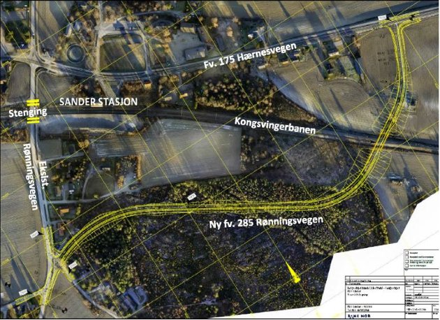 NY KRYSSING FOR BILISTER OG GÅENDE: Her anbefaler Bane NOR å plassere ny planovergang, i form av bru.