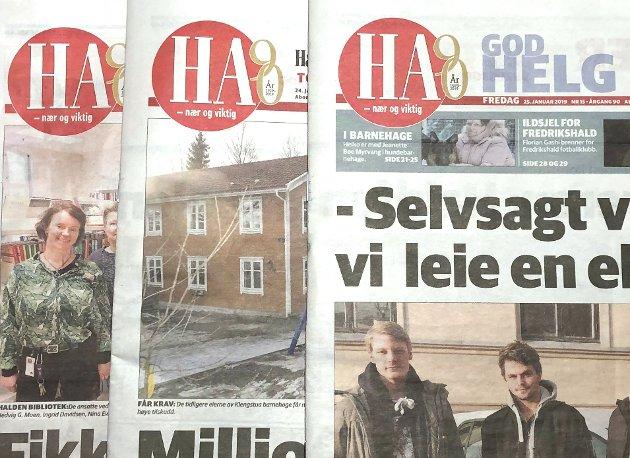 INGEN SELVFØLGE: – HA er ingen selvfølge for Halden og Aremark, skriver Sverre Stang i denne Signert-artikkelen i anledning HAs 90 årsjubileum. FAKSIMILE: HA