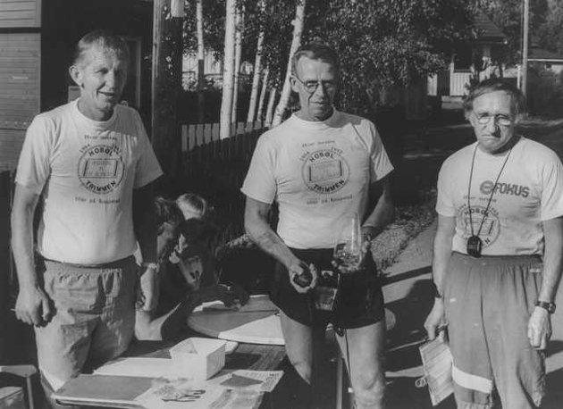 Hobøl-trimmen 13.08 1993- Bjørn Olsen, Hogne Martin Holst og Arne Nystad