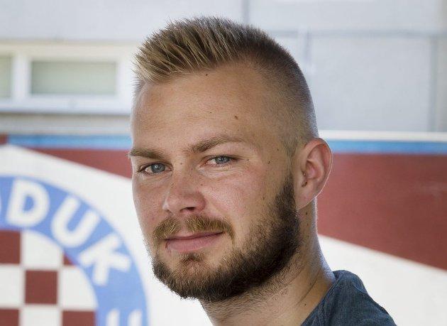 Mathias Bergquist, sportsjournalist i Drammens Tidende.