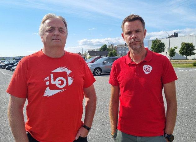 Harald Olsen, fungerende regionleder LO og Truls Vasvik, stortingskandidat Vestfold, Arbeiderpartiet