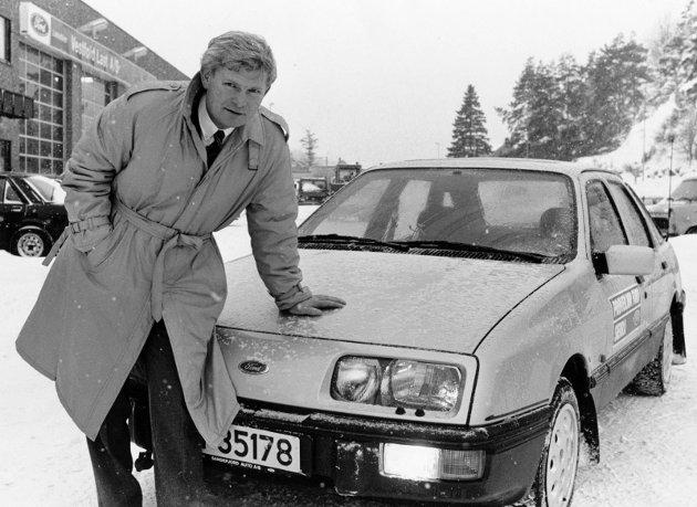 1982 Thor Rørkoll med best selgeren til Ford , en Sierra.