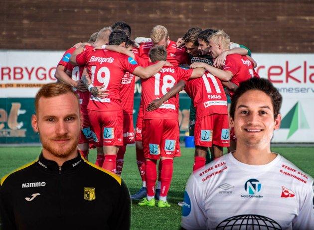 Fordel FFK! Joacim Jonsson har tatt for seg FFK og Raufoss og vurdert lagene spiller for spiller. Jonsson mener FFK kommer best ut. (Foto: Geir A. Carlsson/Raufossfotball.no/fredrikstadfk.no)