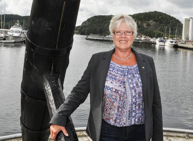 Anne-Kari Holm, Sp-politiker og og varaordfører i Halden kommune. Foto: Øivind Kvitnes