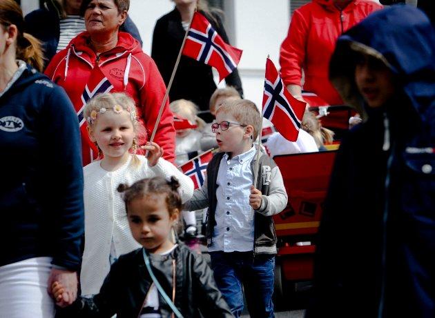 Barnehagene i Moss med sitt årlige tog.