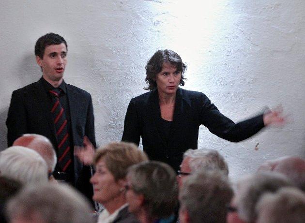 SPOR: Det Norske Solistkor besøkte Moss søndag kveld. Nok en gang ga dirigent Grete Pedersen ( bildet) og koret lyd og uttrykk som satte spor - denne gang med det internasjonale salmeprosjektet The Psalm Experience.