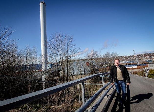 Fred Jørgen Evensen (Ap) og styreleder Moss havn.
