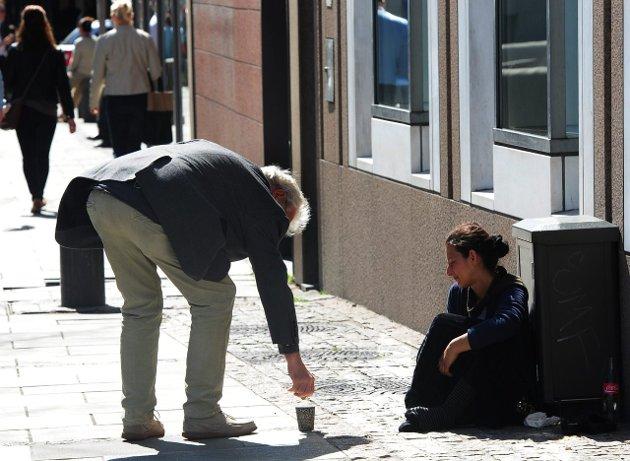 Bør forbys: – Ingen har noensinne tigget seg ut av fattigdom, sier Tor Bøhn. Foto: Vidar Ruud/ANB
