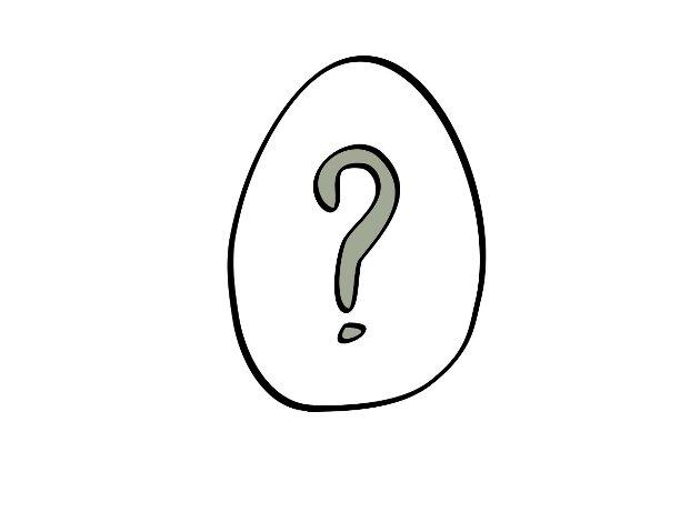Hva ligger i egget? (Tegning: Per Martin Nordli)