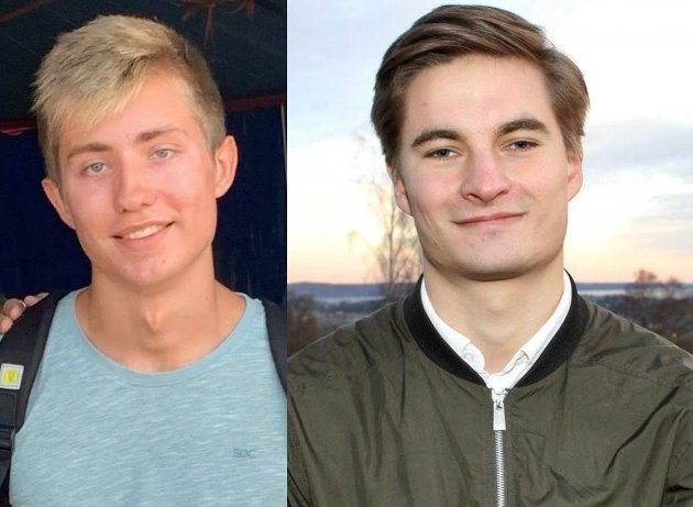 Herman Kapaasen og Mathias Weseth, AU-medlem og fylkesleder i Akershus Unge Høyre (hhv.)