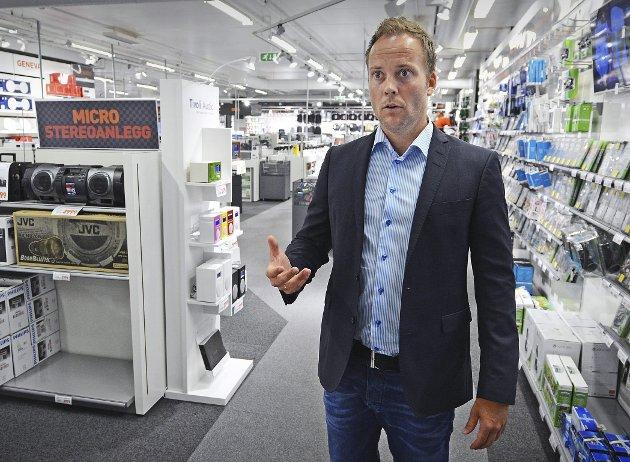 Får kamp: Expert-toppsjef Anders Nilsen kaller tariffavtalen for utdatert og har sagt opp den kollektive avtalen for sine medlemmer i Handel og Kontor. Arkivfoto: Geir A. Carlsson