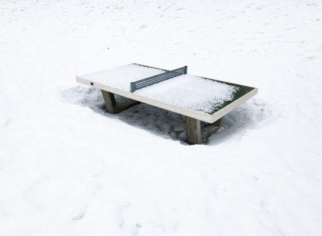 Torsdag dalte snøen ned over Lillehammer.