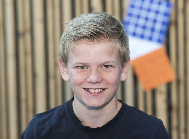Filip A. Hansen (13): Nå har ikke jeg gått her så lenge, men det er veldig bra miljø her. Mye bedre enn det var på barneskolen.