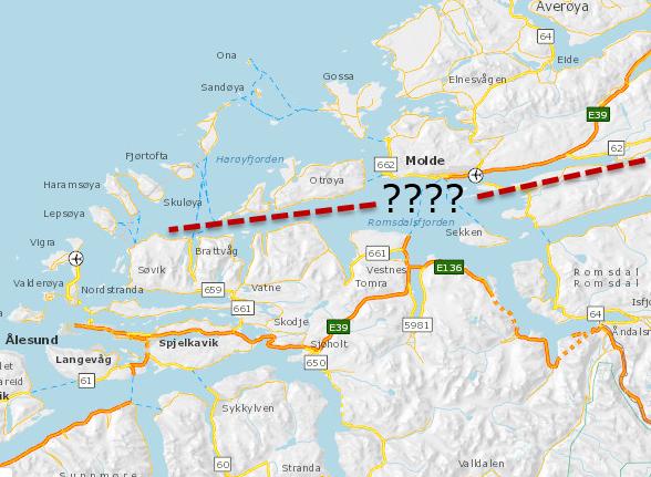Kryssingen av Romsdalsfjorden er blitt til en splittelse av fylket, skriver Arne Almås.