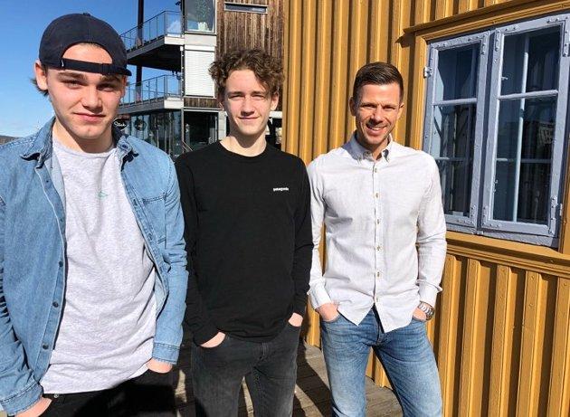 4 DIVISJON EIK TØNSBERG: Jørgen Børstad (f.v.), Elias Bruserød og Tom Erik Nilsen.