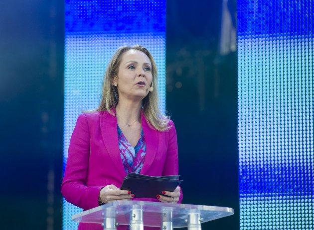 Linda Hofstad Helleland er leder for Høyres programkomite, og sier et oppsiktsvekkende nei til solidaritetsskatt etter koronapandemien, slik det internasjonale pengefondet forslår. Her fotografert som kulturminister i 2017. Arkivfoto: Magne Turøy