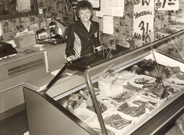 1981: Lunner Handelslags filial på Roa.