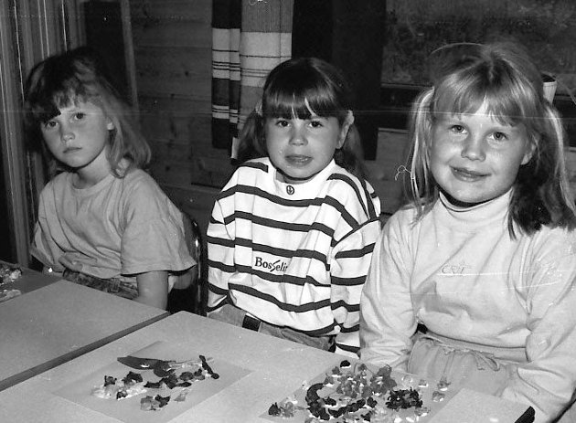 Første skoledag Bardal skole aug. 1990.