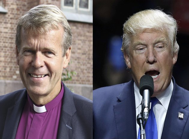 Biskop Per Arne Dahl vs. president Donald Trump.