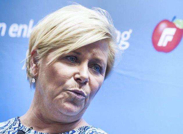 Partileder Siv Jensen (Frp) avviste Aps forslag om mer rettferdig og statlig pensjon, skriver Fredric Holen Bjørdal (Ap) i dette innlegget.