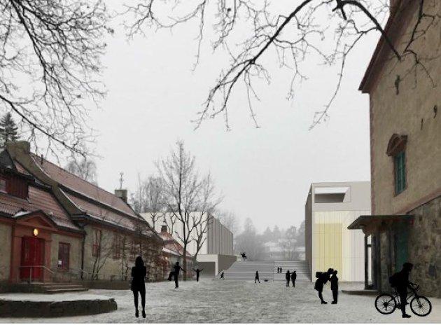 UTVIDER: To bygg nord for eksisterende skolebygg kan bli løsningen når Kolbotn skole må utvide.