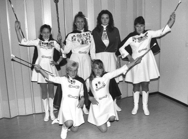 Drilltroppen til Råde Skolemusikkorps, 1989.