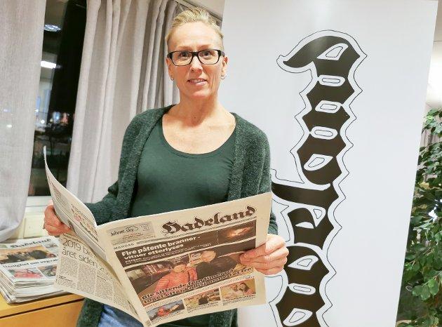 TILGJENGELIG: Line Ramsrud håper leserne tar kontakt dersom de har noe på hjertet.