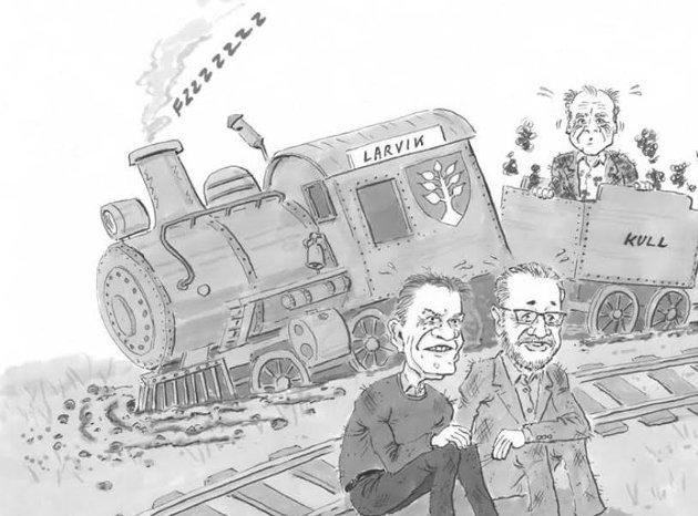 VALG: Den politiske makten i Larvik, representert ved ordfører Erik Bringedal (H) og varaordfører Rune Høiseth (Ap), har dessverre ikke levd opp til forventningene eller løftene som ble gitt før valget høsten 2019, skriver Erik A.Sørensen