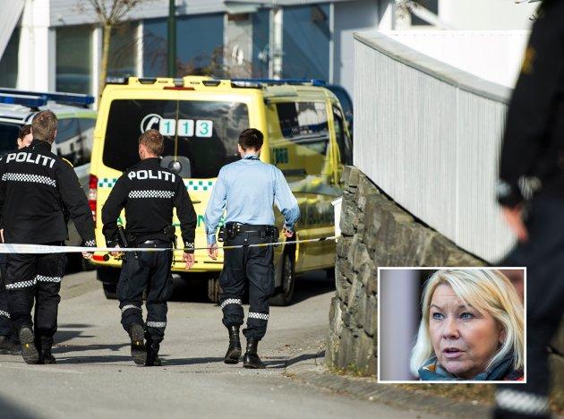 Ryddetid: Justisminister Monica Mæland må rydde etter en lang rekke Frp-statsråder.