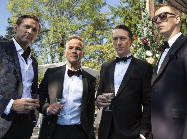«EXIT»: Tobias Santelmann, Jon Øigarden, Simon J. Berger og Pål Sverre Hagen spiller klessetryner med perfekt fasase.