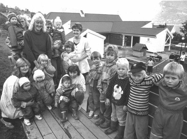 Barnehage: Den nye barnehagen på Utne. 12/10 1992.