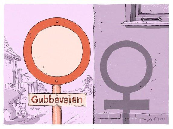 GATENAVN: Bare et par av veiene i Lillestrøm sentrum er oppkalt etter kvinner.