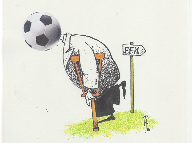 Risikosport: Det å overvære kamper som den FFK spilte mot Strømmen i forrige serierunde, er å regne som en risikosport av en annen verden for tribuineslitere, mener Erik Johansen.Illustrasjon: Thore Hansen