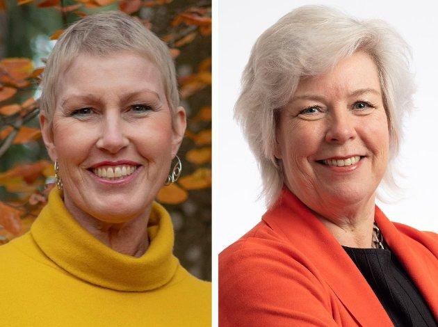 MULIGHETER: I den økonomiske krisetiden vi nå opplever, må det satses på å heve kompetansen i befolkningen, mener NHOs Kristin Saga (til venstre) og LOs Irene Bordier Haukedal.
