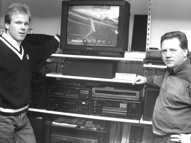 Spektrum A/S, elektronikkbutikk i Moss. Eivind Rud og Lasse Petersen, 1994.