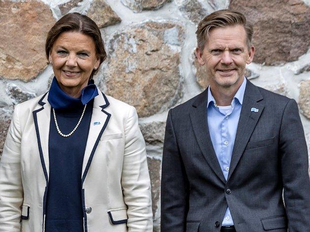 Høyres to representanter fra Østfold, Ingjerd Schou og Tage Pettersen. De er også toppkandidater ved høstens valg.