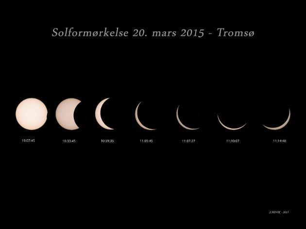 Solformørkelsen i 2015 sett fra Tromsø