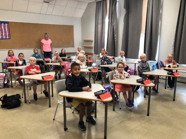 Ny hverdag: Dette blir det nye klasserommet for de 16 elevene på Holt.
