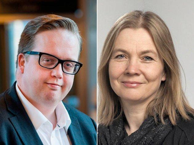 SVARER: Hele Fossum (Frp) og Hanne Børrestuen (Ap) har sammen med Ida C. Ruud (SV), Egil Hjorteset (V) og Øyvind Nerheim (KrF) på vegne av flertallspartiene kommet med et tilsvar til Senterpartiet om ordførersaken.