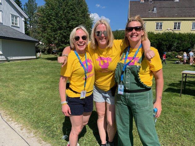 De tre S'ene: Siri Beate Fossum, til høyre, styrte årets Kalvstock, med seg på laget hadde hun blant andre Silje Kvalvik Eidsvåg og Stine Kindølshaug.