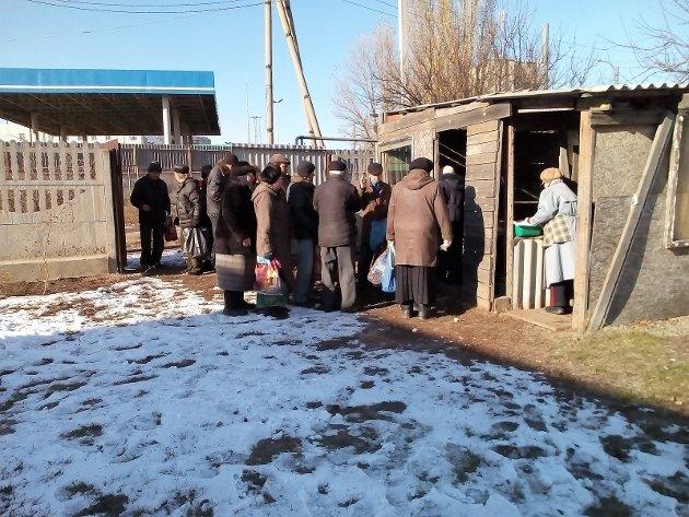 Foreningen støtter kirka i Luhansk sin matutdeling med omlag 350 varme måltid kvar måned.