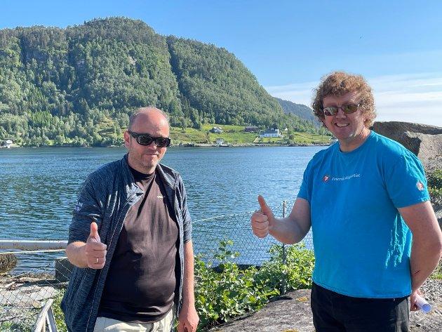 Gruppeleiar i Masfjorden FrP, Jostein Duesund, og leiar i Masfjorden FrP, Ørjan Daae.