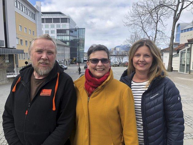 Samarbeid: Ann-Kristin Moldjord (Ap), Synnøve Pettersen (SV) og Ola Smeplass (Sp) leder hvert sitt kommuneparti i Bodø, og de vil samarbeide neste periode også.