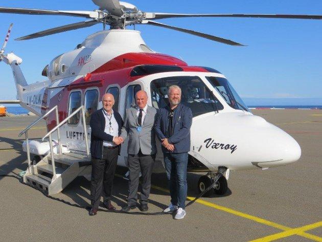 Nytt helikopter på Værøy