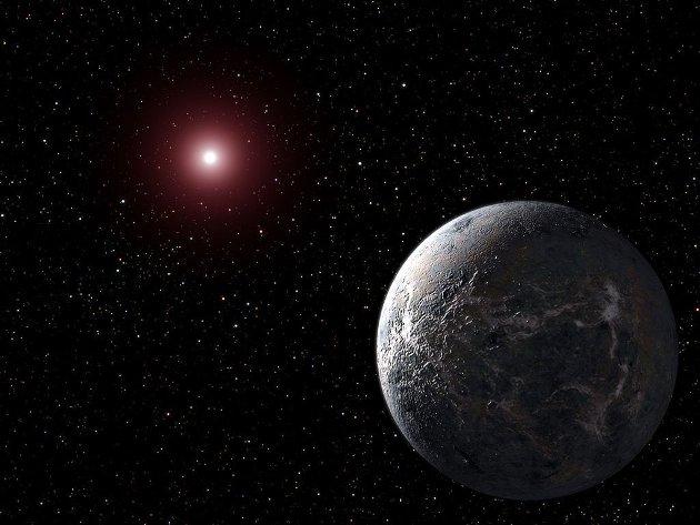 Kunstnerisk fremstilling av en eksoplanet
